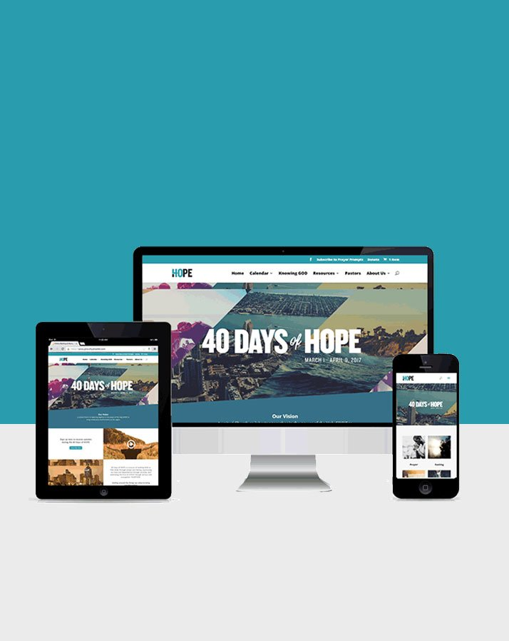 40 Days of Hope – Ministry Website Development