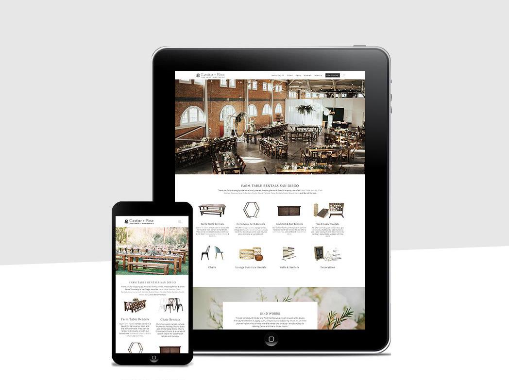 Rental Industry Website Development With Booking System, Modern Design Media