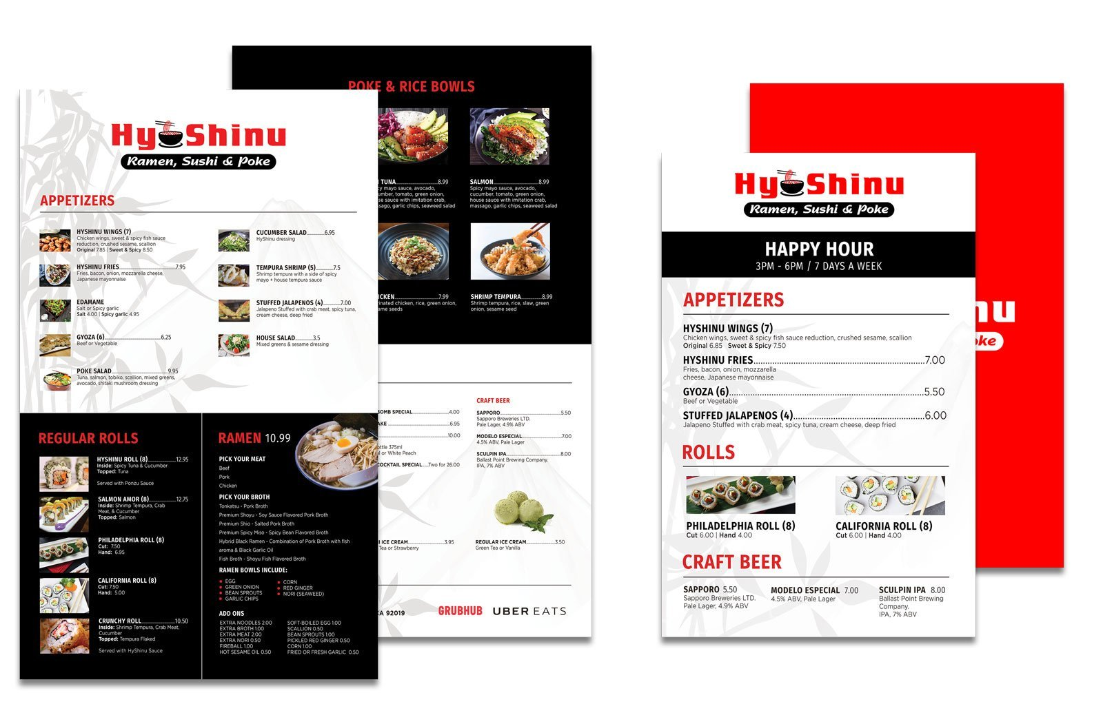 San Diego Restaurant Website & Menu Design, Modern Design Media
