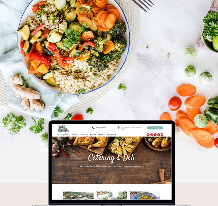 Rotisserie Affair Catering Website Development