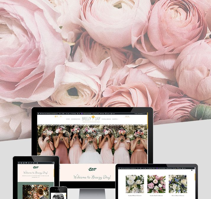 Breezy Day Weddings – Floral Website Development