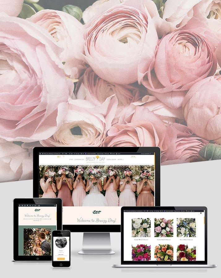 Breezy Day Weddings – Floral Website Development