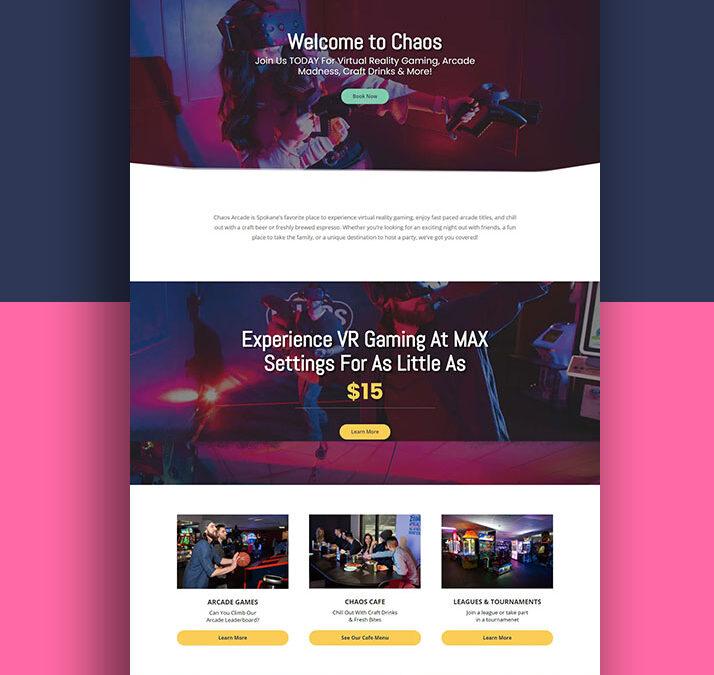 Chaos Arcade Website